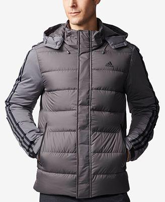 adidas Men's 3-Stripe Down Jacket