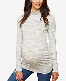 Motherhood Maternity Ruched Turtleneck Top