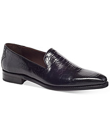Carlos by Carlos Santana Men's California Ostrich-Embossed Loafers