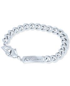 R.T. James Men's Logo Link Bracelet, Created for Macy's