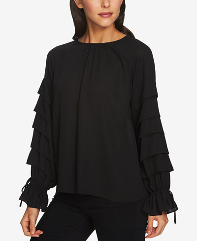 1.STATE Tiered-Sleeve Top