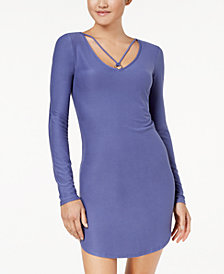 Planet Gold Juniors' Strap-Detailed Soft Bodycon Dress