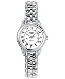 Longines Men's Swiss Automatic Flagship Stainless Steel Bracelet Watch 30mm