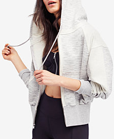 Free People FP Movement Mixed-Knit Hoodie