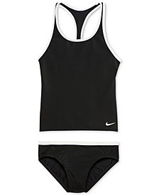 Nike 2-Pc. Racer-Back Sport Tankini Swimsuit, Big Girls
