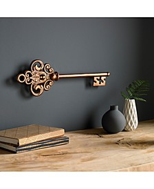Rose Gold-Tone Castle Key Wall Art