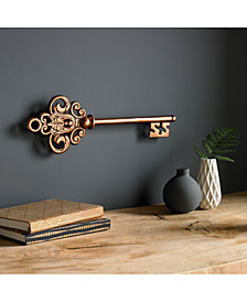 Graham & Brown Rose Gold-Tone Castle Key Wall Art