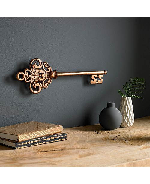 Graham Brown Rose Gold Tone Castle Key Wall Art