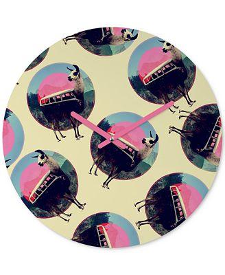Deny Designs Ali Gulec Llama Van Round Clock