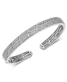 Diamond Cuff Bracelet (1/4 ct. t.w.) in Sterling Silver