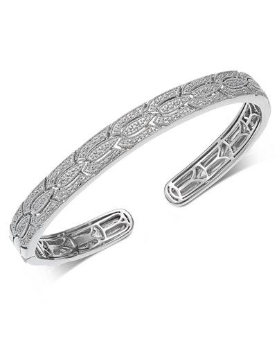 Diamond Cuff Bracelet (1/4 ct. t.w.) in Sterling Silver