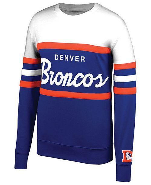 buy popular 58667 8624b Mitchell & Ness Men's Denver Broncos Head Coach Crew ...