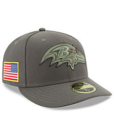 New Era Baltimore Ravens Salute To Service Low Profile 59FIFTY Fitted Cap