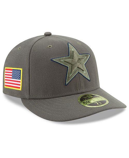 ... New Era Dallas Cowboys Salute To Service Low Profile 59FIFTY Fitted Cap  ... e5229da89