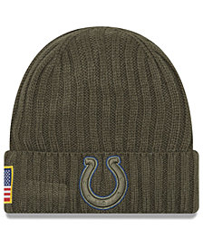 New Era Indianapolis Colts Salute To Service Cuff Knit Hat