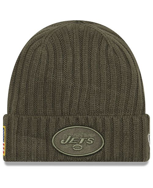 info for 92ad4 85de0 ... New Era New York Jets Salute To Service Cuff Knit Hat ...
