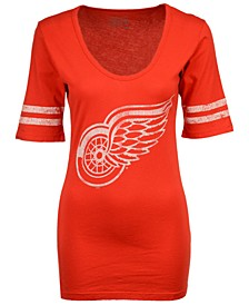Women's Detroit Red Wings Vintage Sleeve Stripe T-Shirt