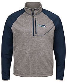 G-III Sports Men's Seattle Seahawks Mountain Trail Quarter-Zip Pullover