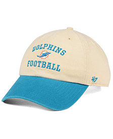 '47 Brand Miami Dolphins Steady Two-Tone CLEAN UP Cap