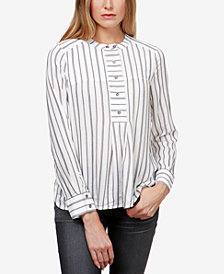 Lucky Brand Striped High-Low Popover Shirt