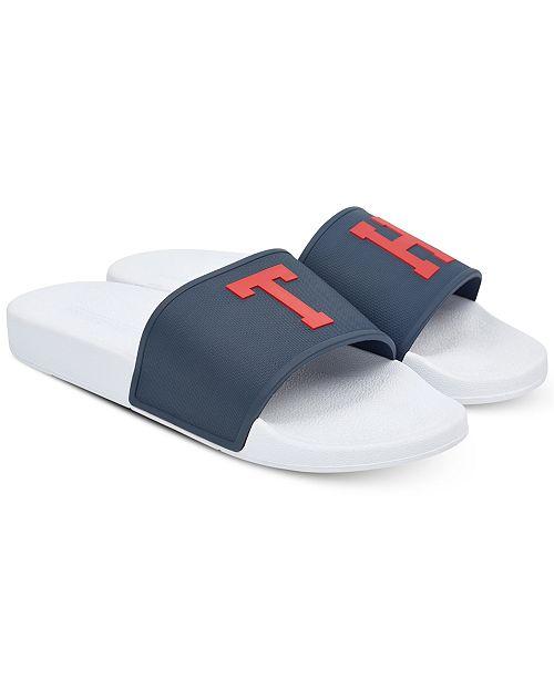db79f00b5242 Tommy Hilfiger Men s Essex Slide Sandals   Reviews - All Men s Shoes ...