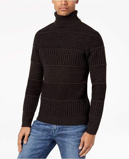 1fb050eac15069 1 reviews. GUESS Men s Mix-Stitch Turtleneck Sweater  GUESS Men s  Mix-Stitch Turtleneck Sweater ...