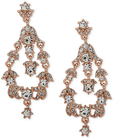 Anne Klein Crystal Orbital Clip-On Drop Earrings