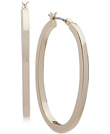 DKNY Gold-Tone Oval Hoop Earrings, Created for Macy's