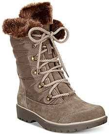 Baretraps Satin Lace-Up Cold-Weather Boots