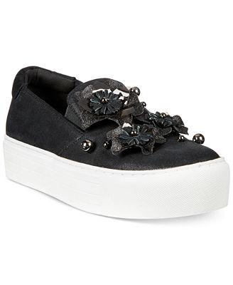 Cheer Floral Denim Platform Sneaker Kenneth Cole Reaction