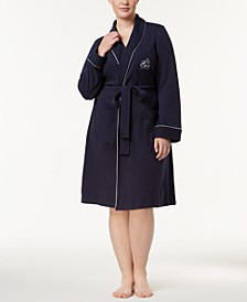 Plus Size Shawl-Collar Robe