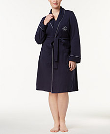 Lauren Ralph Lauren Plus Size Shawl-Collar Robe