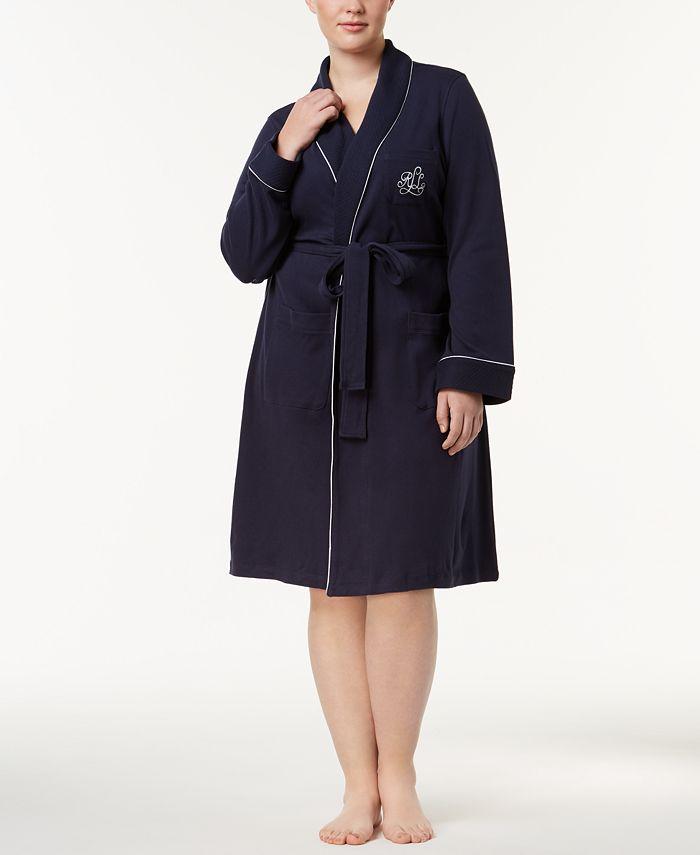 Lauren Ralph Lauren - Plus Size Shawl-Collar Robe