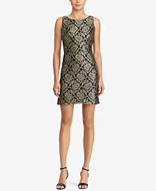 American Living Metallic Lace Dress