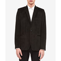 Calvin Klein Men's One-Button Velvet Jacket (Black)