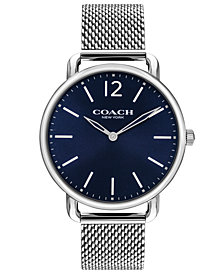 COACH Men's Delancey Slim Stainless Steel Mesh Bracelet Watch 40mm 14602349