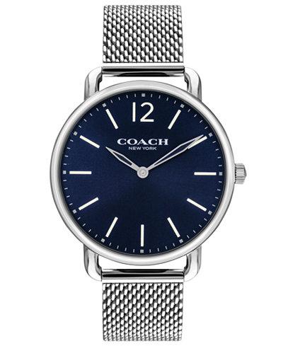 COACH Men's Delancey Slim Stainless Steel Mesh Bracelet Watch 40mm 14602349