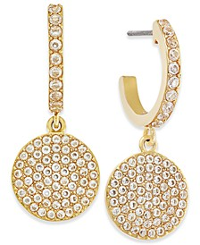 Pavé Crystal Disc Drop Earrings