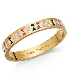kate spade new york Gold-Tone Colored Bow Bangle Bracelet