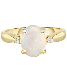 Opal (1-1/2 ct. t.w.) & Diamond Accent Ring in 14k Gold