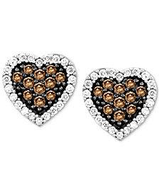 Le Vian Chocolatier® Diamond Heart Stud Earrings (3/8 ct. t.w.) in 14k White Gold