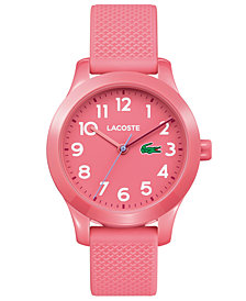 Lacoste Kids' 12.12 Pink Silicone Strap Watch 32mm