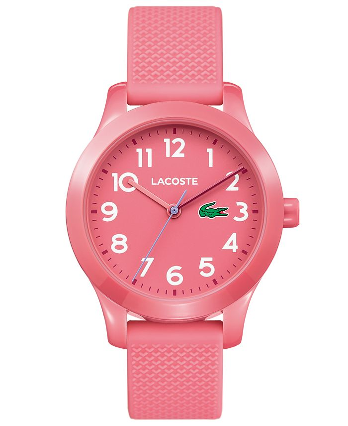 Lacoste - Kids 12.12 Pink Silicone Strap Watch 32mm