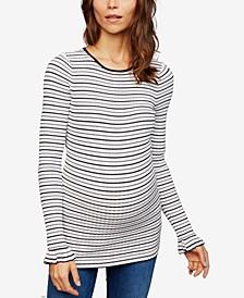 Maternity Ruffled-Sleeve Sweater