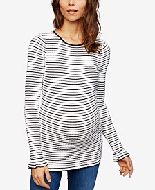 A Pea In The Pod Maternity Ruffled-Sleeve Sweater