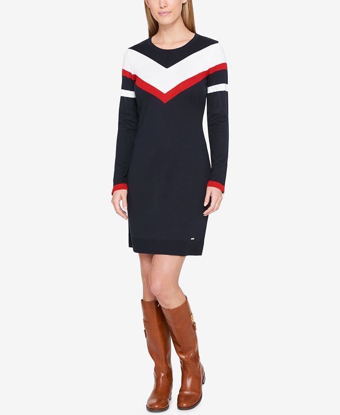Tommy Hilfiger - Colorblocked Sweater Dress