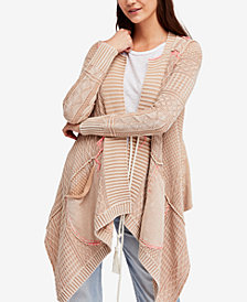 Free People Printed Cascade Cardigan