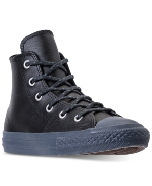 Converse Little Boys Chuck Taylor Leather N Thermal High Top Casual Sneakers from Finish Line