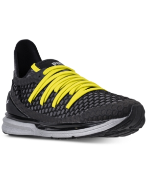8bcbb65f103 Puma Men S Ignite Limitless Netfit Nightcat Casual Sneakers From Finish Line  In Black-Nrgy Yellow