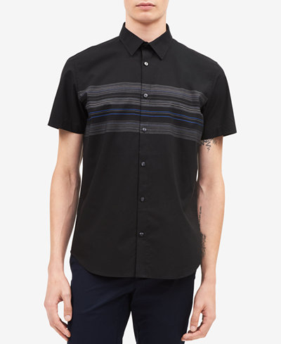 Calvin Klein Men's Horizontal Stripe Shirt